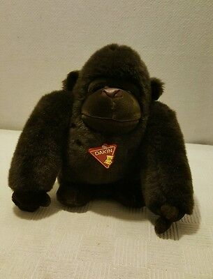 "1988 Dakin Tsuruya Brown Gorilla Ape Monkey Plush Stuffed Animal 12"" Vintage EUC"