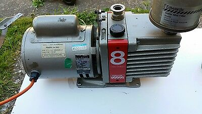 Edwards E1M8 Vacuum Pump With Mf20 Mist Filter