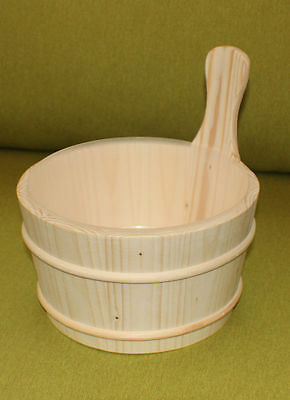 Traditional style  all Wood Sauna Bucket (4ltr) with liner