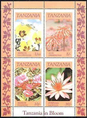 (Ref-10873) Tanzania 1986 Flowers Tanzania in Bloom - Sheet SG.MS478 Mint (MNH)