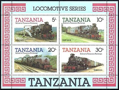 (Ref-10874) Tanzania 1985 Locomotive Series M/Sheet SG.MS434 Mint (MNH)