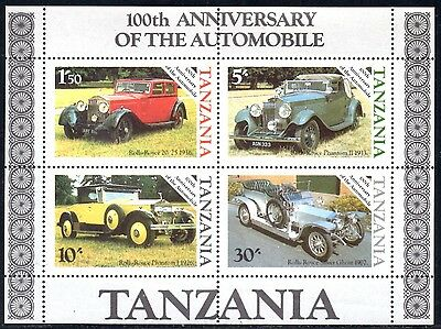 (Ref-10876) Tanzania 1986 Automobile 100th Anniversary Miniature Sheet Mint MNH