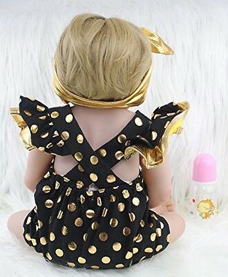 """Full Silicone Reborn Doll Girl AnneDoll 22"""" with Earrings Body Lifelike New"""