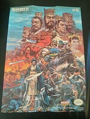 Romance of the Three Kingdoms II MAP/POSTER ONLY (Nintendo NES, 1991) NO GAME