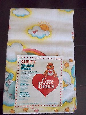 Vintage Care Bears Curity Receiving Blanket 1983 with Tag