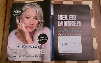 In the Frame SIGNED Helen Mirren Autobiography Hardback Book 1st/1st