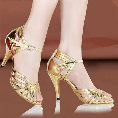women's adult Latin dance shoes female high-heeled soft outsole ballroom dancing