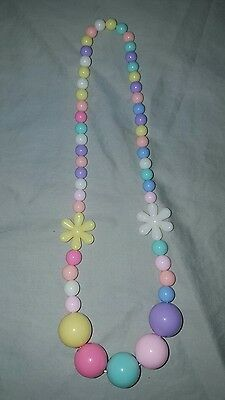 new elastic kids rainbow flower  necklace and bracelet set