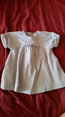 Baby Girl Baby Next Grey Corduroy Dress - VGC - Size 0-3 Months