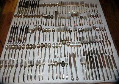 Mixed Lot of Silver Plate Flatware Silverware Rogers Community & More 165 pcs