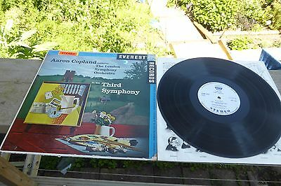 Copland 3rd Symphony LSO Everest Stereo ED1 SDBR 3018 LP Rare