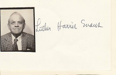 Luther Harris Evans  Autograph (1902-1981) : Librarian Of The Us Congress