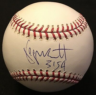 George Brett Signed Autographed Official Baseball Kansas City Royals ROMLB HOF