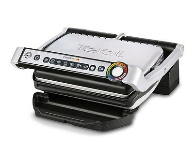 NEW Tefal OptiGrill +XL Health Grill with 9 Programs Grill (GC722 - Silver)