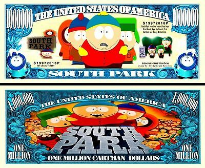 South Park Million Dollar Bill Fake Play Funny Money Novelty Note + FREE SLEEVE