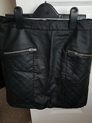 faux leather skirt size 10