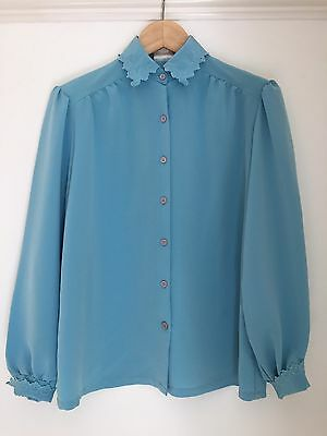 Vintage Blouse Top Blue Size 8 By Kozet