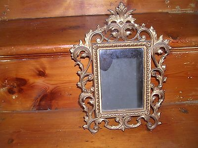 Antique Vintage Victorian Gold painted Gilded Ornate Rococo Mirror Shabby Chic