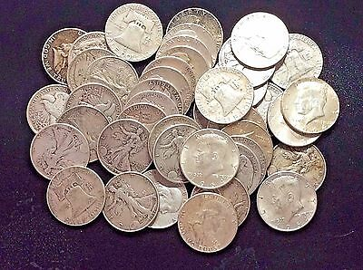 Group of 5 90% Silver Half Dollars---PLUS BONUS