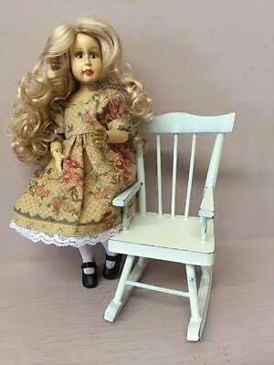Signed Robert Raikes Multi Jointed Wooden Dressed Doll Hope American Kit Company