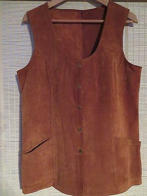 Vintage Heavy Soft Suede Leather Waistcoat