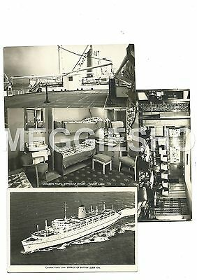 Canadian Pacific Empress Of Britain Cruise Liner Ship 4 Photo Postcards