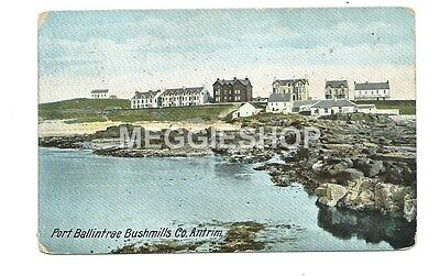 Northern Ireland : Antrim : Port Ballintae Bushmills 1913 Postcard