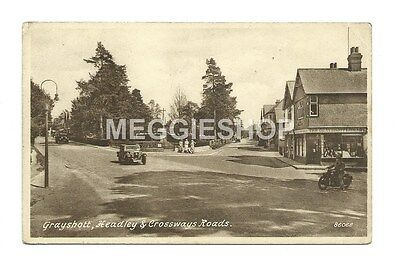 Surrey: Hindhead: Grayshott, Headley & Crossways Roads - Old Frith Postcard