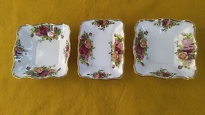 Royal Albert Old Country Roses Bone China Three Pin Trays