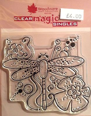 Woodware Clear Magic Dragonfly stamp FRS159