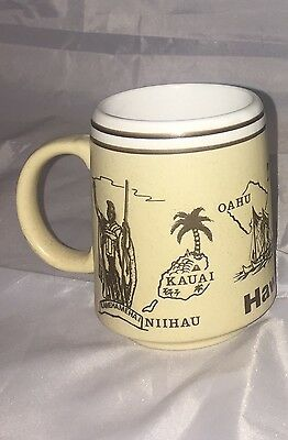 Hawaiian Islands Embossed Coffee Mug Cup Aloha Hawaii 4""