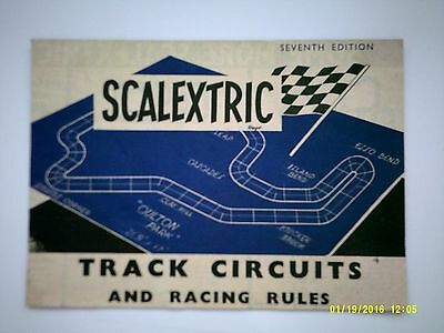 Scalextric 7th Edition Track Circuits & Racing Rules Very Good Condition