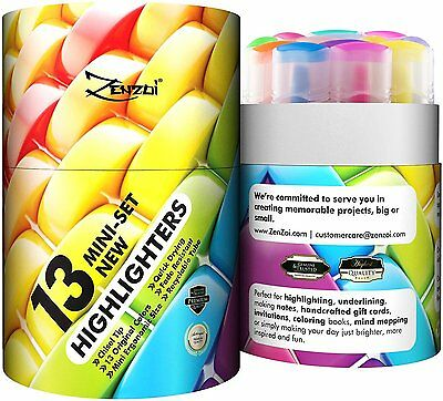 Highlighters Markers Assorted Colors Highlighter Marker Pens – Big Pack of 13 Co