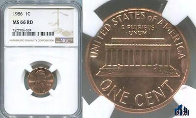 MS-66RED NGC 1986-P ULTRA-GEM LINCOLN CENT!   (((COMBINE SHIPPING))) No ReSeRvE