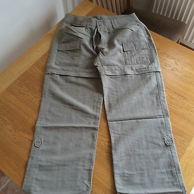 North Face Size UK 12 Ladies Convertible Walking Pants