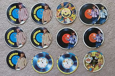 60's Lot of 13 Bobby Sherman Archies Motown Cereal Box Premium Cardboard Records