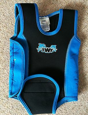 Baby swimming wetsuit 0-6 months blue dolphin