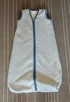 Hanna Andersson Wearable Blanket Sleep Sack Sherpa Lined Unisex Gray 5-12 Months