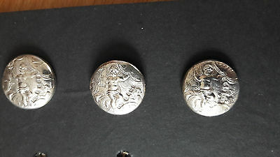 Set of 3 Late Victorian Silver Buttons