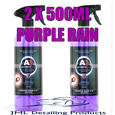 2 X 500Ml Autobrite Direct Purple Rain Alloy Wheel Cleaner Iron Fallout Remover