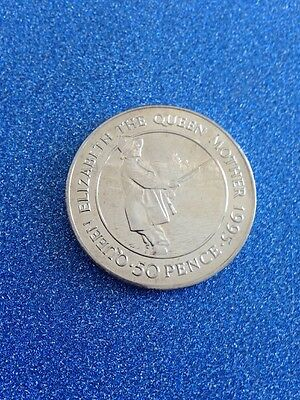 1995 Ascension Island 50p Queen Mother