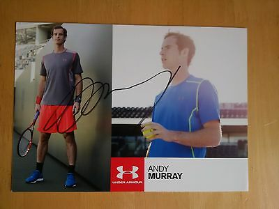 Sir Andy Murray Signed PR Card * Tennis Player * * UK Delivery Only *