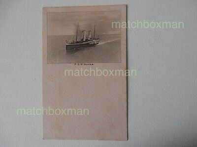 Steam Paddle Steamer Launched 1896 Printed Postcard Pink Late (19Th Early (20Th