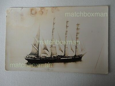 Pamir Sailing Ship 4-Masted Barque Launched 1905 K Ltd Real Photo Postcard Mfm10