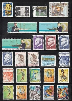 Monaco Mint & Used 1996 collection on 2 pages CV £141