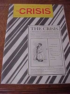 The Crisis: A Record of Darker Races NAACP Mag November 1970 Anniversary Issue