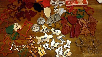 HALLMARK / WILTON/ MORE /tin/plastic/copper/ MIXED LOT OF VINTAGE COOKIE CUTTERS