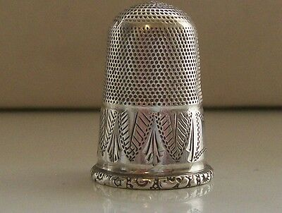 Large White Metal/ Silver Continental Thimble