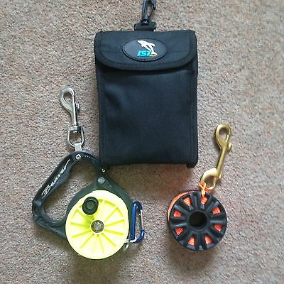 IST Scuba Diving DSMB With Automatic Dump Valve and Carrying Pouch + Two Reels