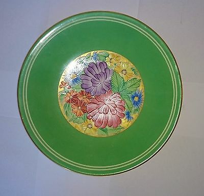 ART DECO GRAYS POTTERY CABINET PLATE HAND PAINTED c 1930